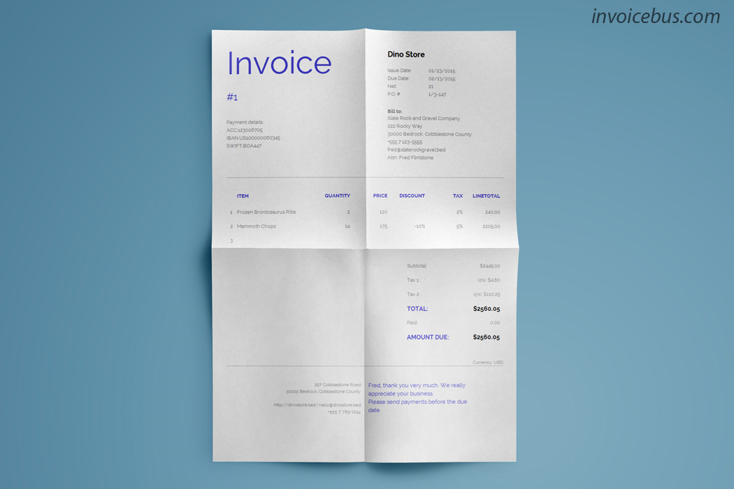 40+ Interactive Invoice Templates Screenshot 10