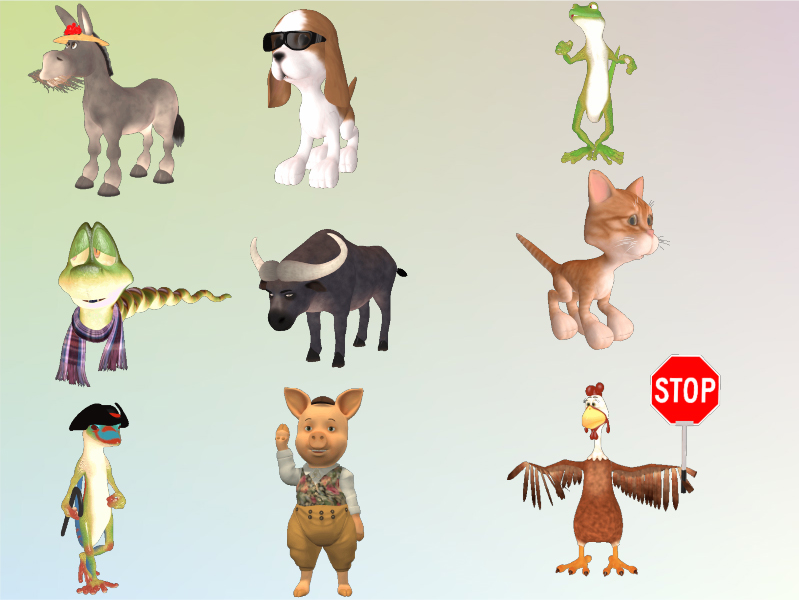 3D Character MegaPack, Animation Software Screenshot