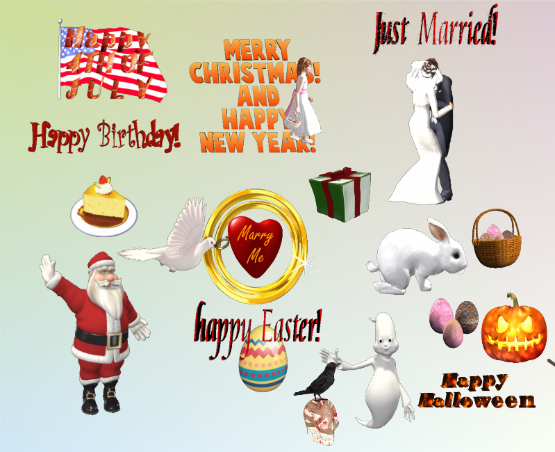 3D Holidays and Special Occasions MegaPack Screenshot