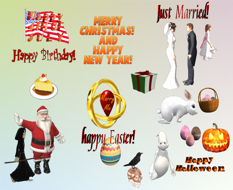 3D Holidays and Special Occasions MegaPack, Animation Software Screenshot