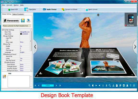 3D PageFlip Professional Screenshot