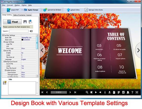 3D PageFlip Standard Screenshot