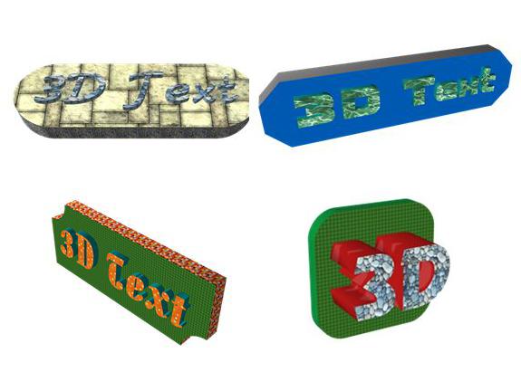 3D Text, Label Creation Software Screenshot