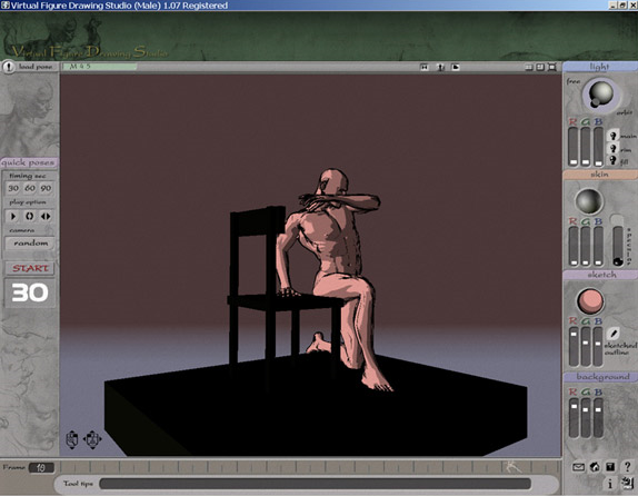 3D VFDS Male, Design, Photo & Graphics Software Screenshot