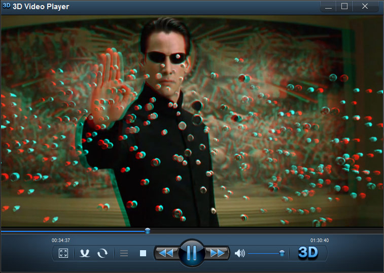 3D Video Player, Video Player Software Screenshot
