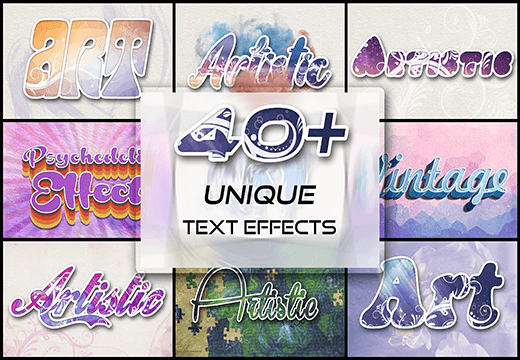 40+ Unique Text Effects Collections Screenshot