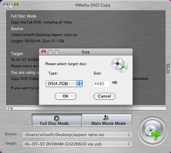 4Media DVD Copy for Mac Screenshot