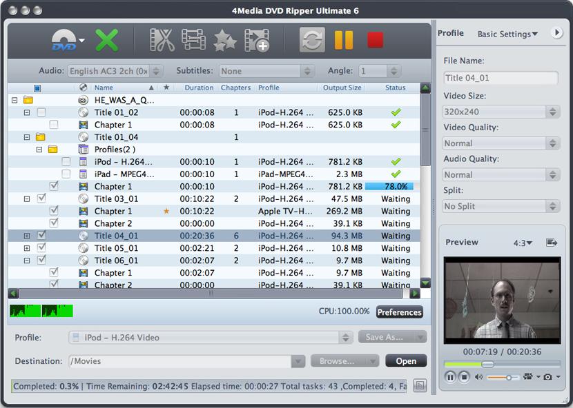 4Media DVD Ripper Ultimate Screenshot