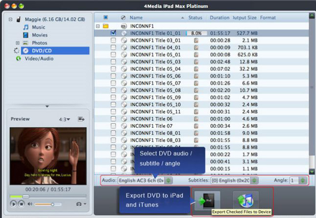 4Media iPad Max Platinum, Video Software Screenshot