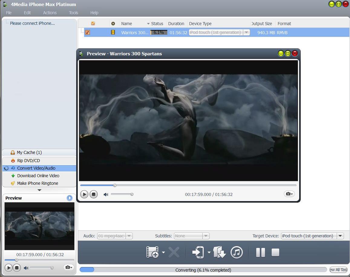 4Media iPhone Max Platinum for Mac & Win Screenshot