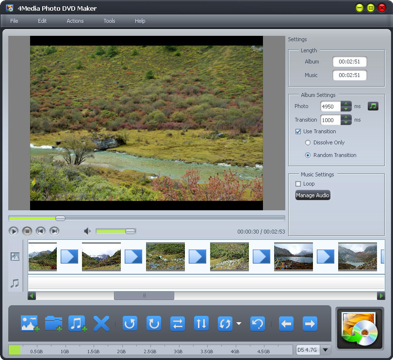 4Media Photo DVD Maker Screenshot
