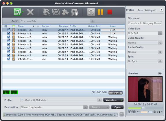4Media Video Converter Ultimate Screenshot