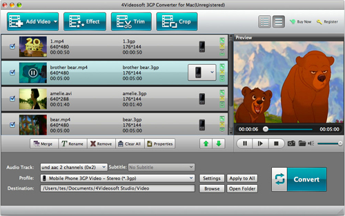 Video Converter Software, 4Videosoft 3GP Video Converter Screenshot