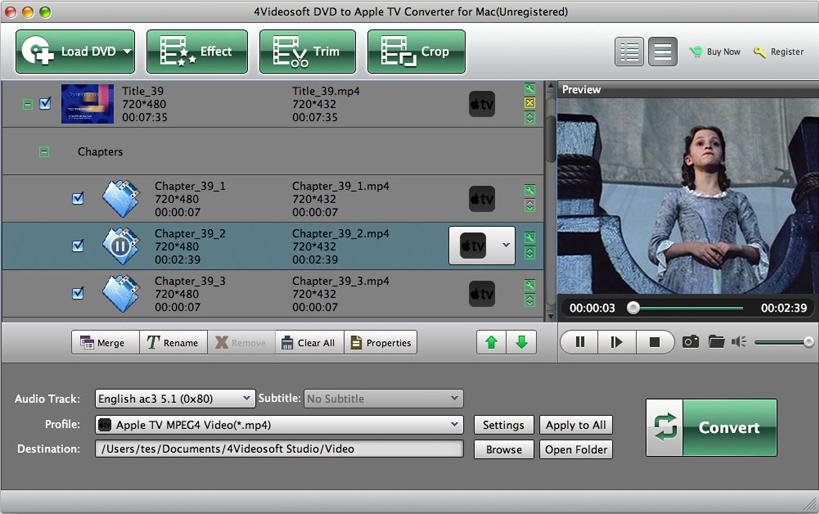 4Videosoft Video Converter Ultimate for Mac, Video Converter Software Screenshot