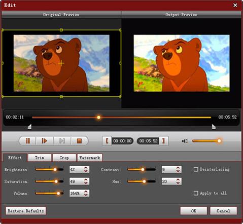 4Videosoft MP4 Converter, Video Converter Software Screenshot