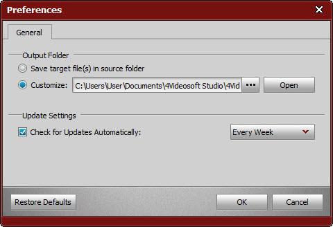 4Videosoft PDF to Image Converter, PDF Conversion Software Screenshot