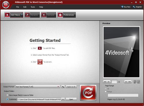 PDF Conversion Software Screenshot