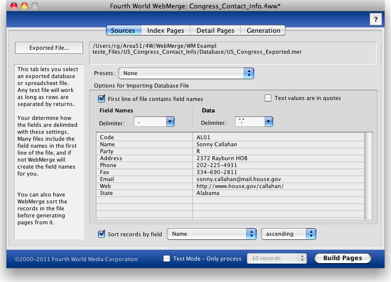 4W WebMerge Screenshot