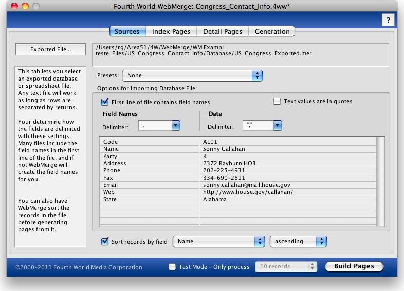 4W WebMerge Screenshot