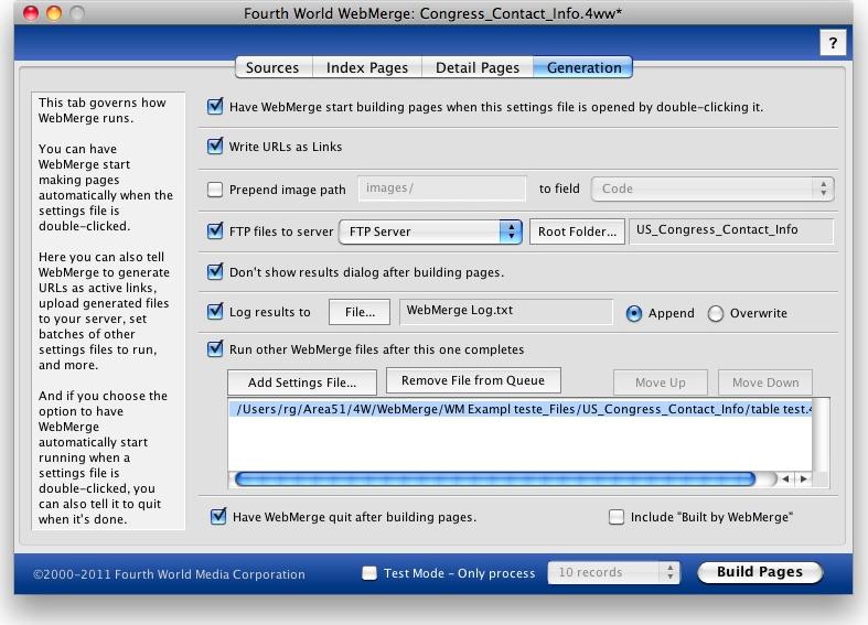 4W WebMerge, Website Builder Software Screenshot