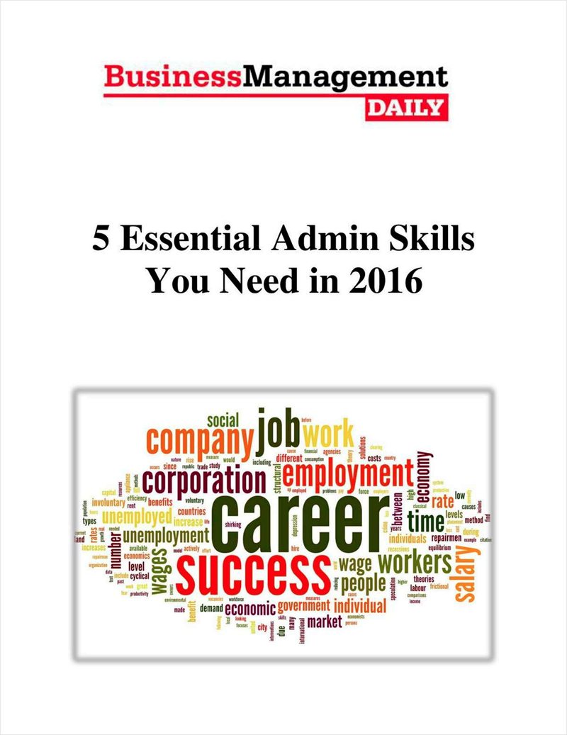 5 Essential Admin Skills You Need in 2016 Screenshot