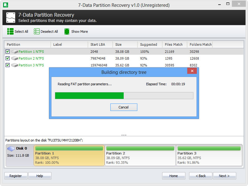 Recovery Software Screenshot