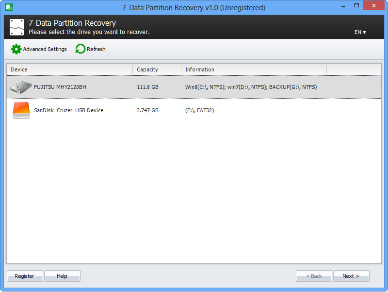 7-Data Partition Recovery [1 Year] Screenshot