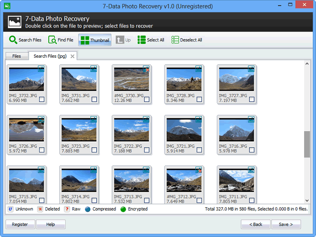 7-Data Photo Recovery, Recovery Software Screenshot