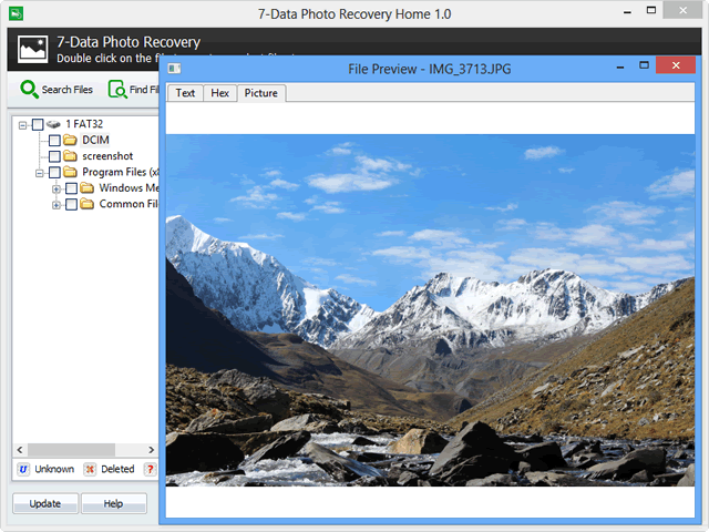 7-Data Photo Recovery, Software Utilities Screenshot