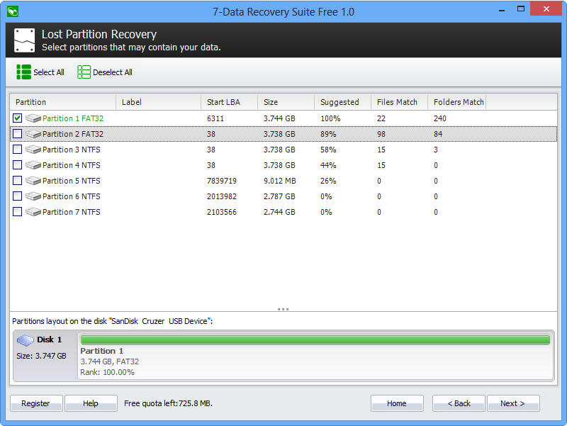 Recovery Software, 7-Data Recovery Suite Screenshot