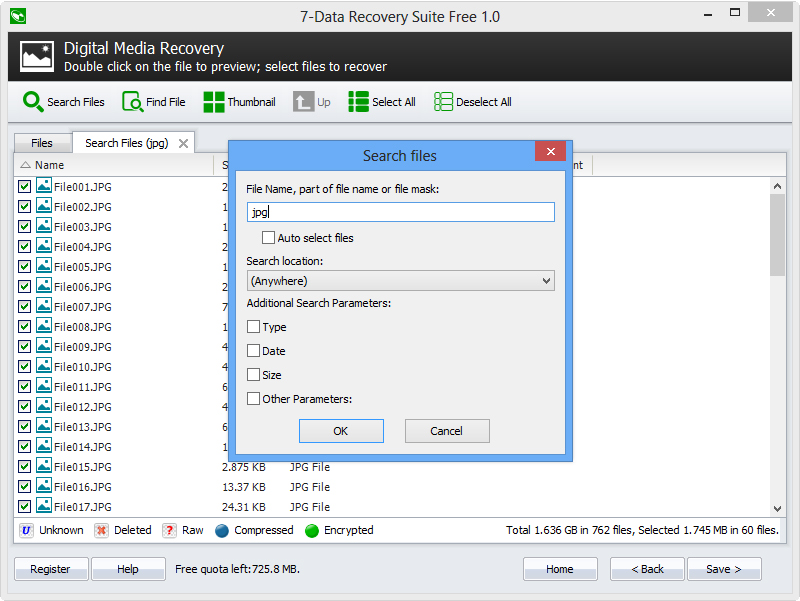 Software Utilities, 7-Data Recovery Suite Screenshot