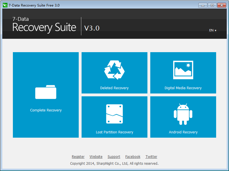 7-Data Recovery Suite Screenshot
