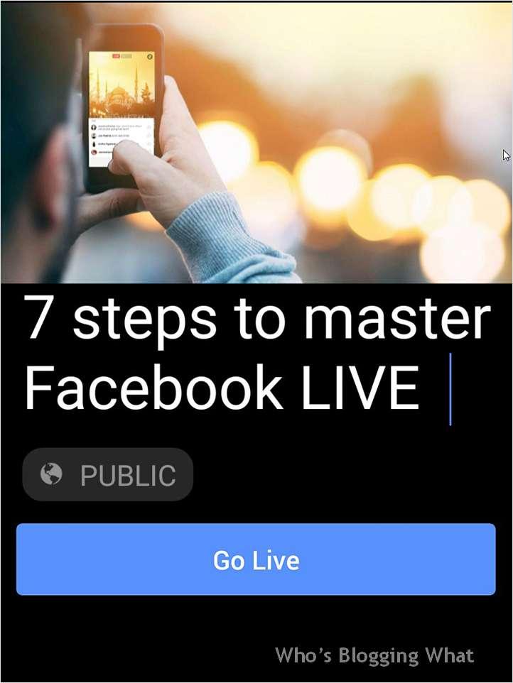 7 Steps to Master Facebook LIVE Screenshot