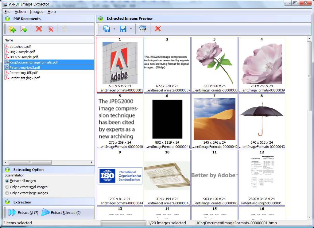 A-PDF Image Extractor Screenshot