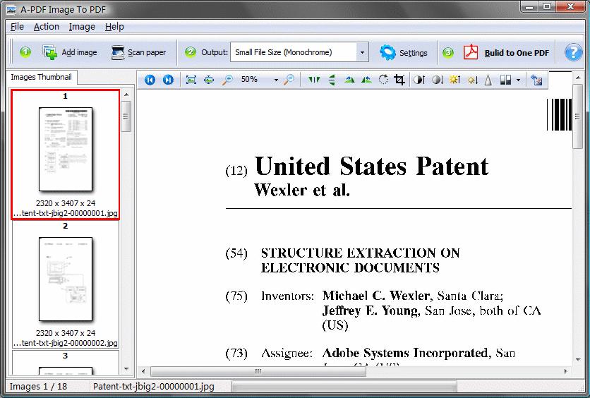 A-PDF Image to PDF Screenshot