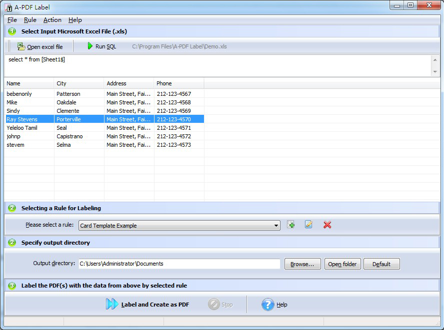 A-PDF Label Screenshot