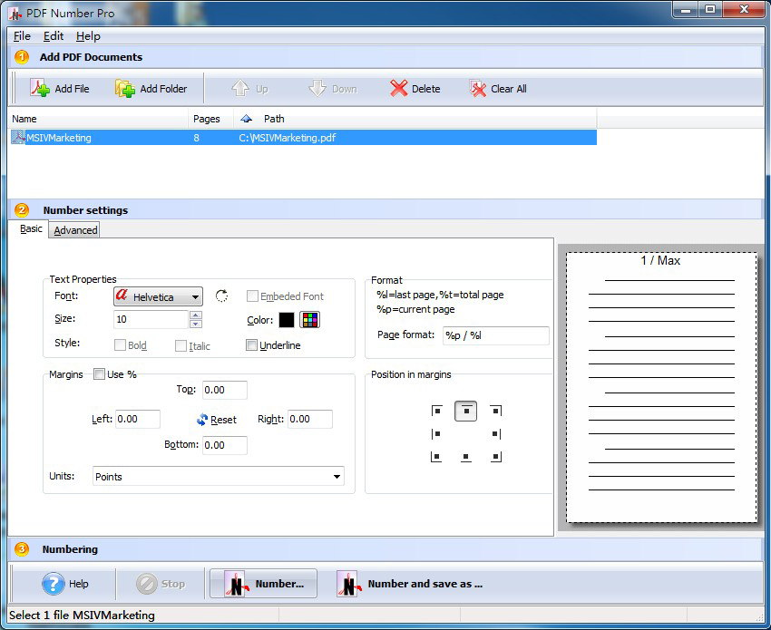 A-PDF Number Pro Screenshot
