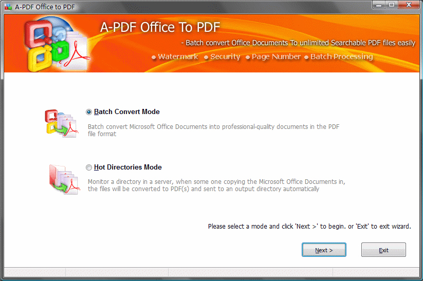 A-PDF Office to PDF Screenshot