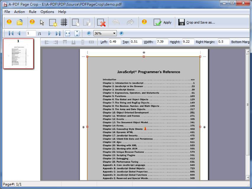 A-PDF Page Crop Screenshot