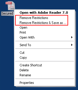 A-PDF Restrictions Remover Screenshot