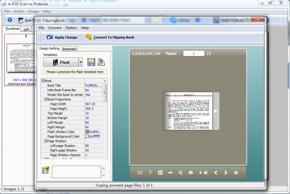 A-PDF Scan to Flipbook Screenshot