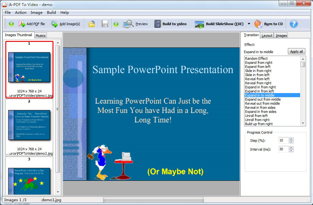 A-PDF to Video Screenshot