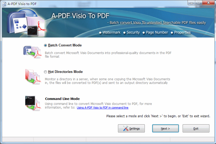 A-PDF Visio to PDF Screenshot