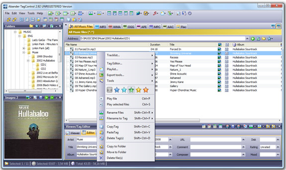 Abander TagControl Screenshot