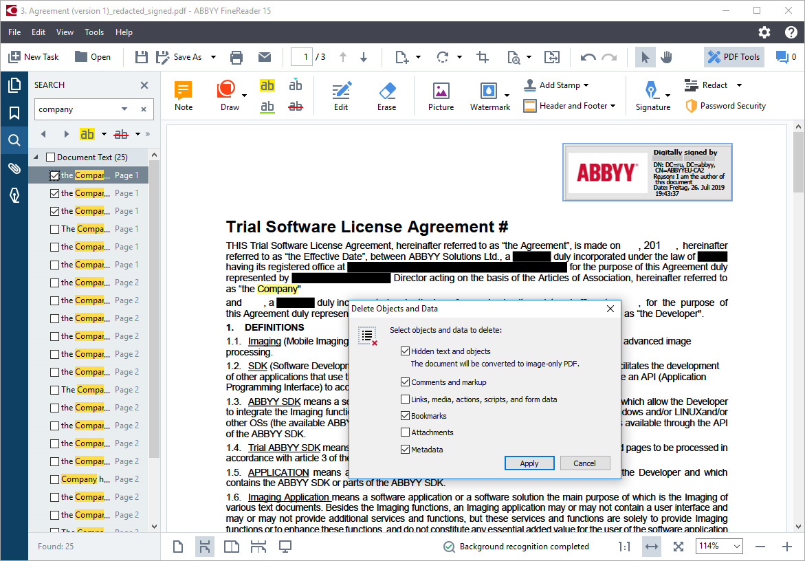 Business & Finance Software, ABBYY FineReader Corporate Screenshot