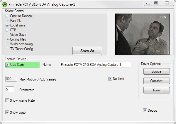 AbelCam, Video Capture Software Screenshot