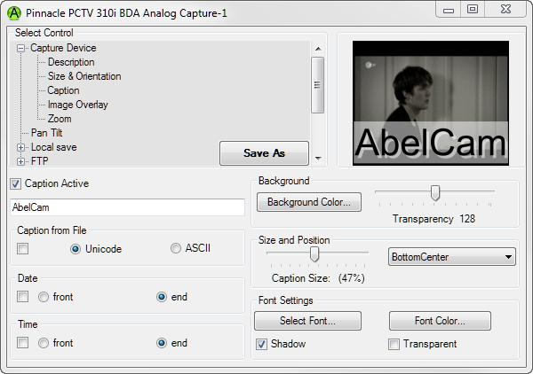 Video Software, AbelCam Screenshot
