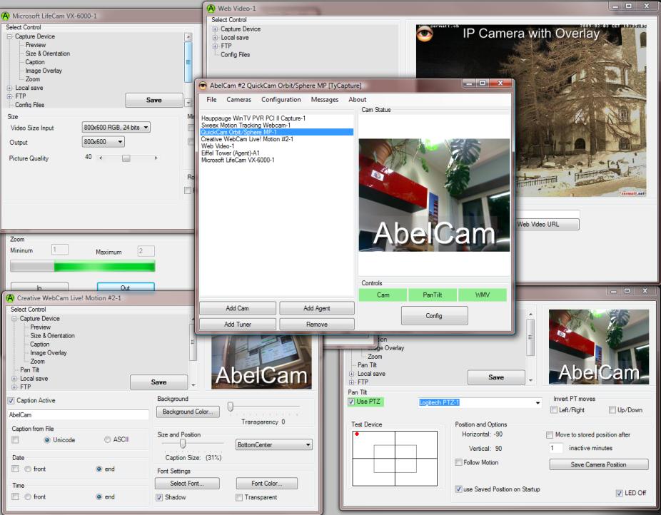 AbelCam, Video Software, Video Capture Software Screenshot