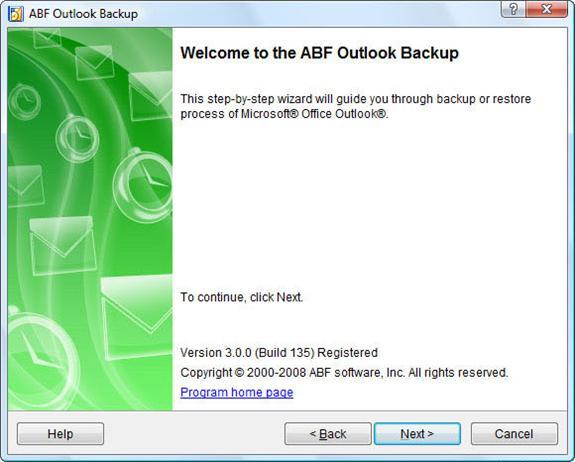 ABF Outlook Backup 3 Screenshot