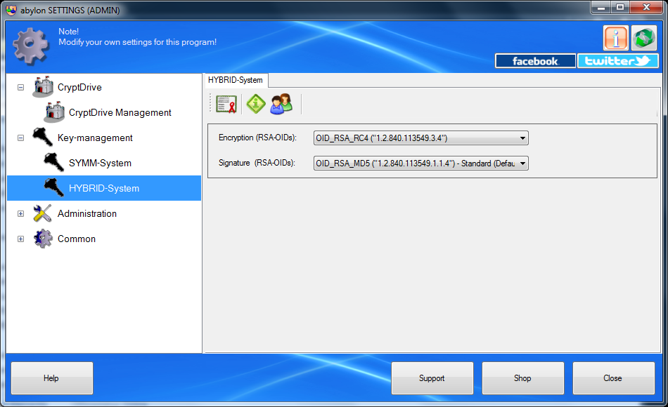 Security Software, abylon CRYPTDRIVE Screenshot